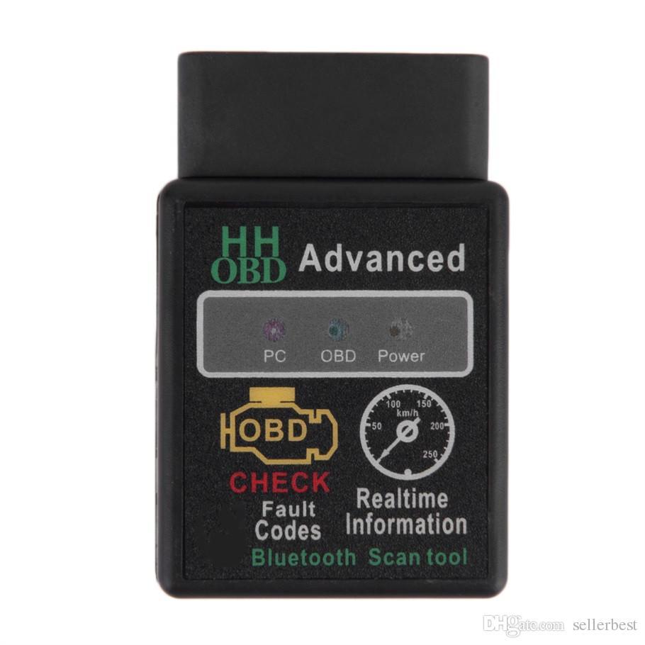 HH OBD HHOBD Mini ELM327 V1.5 Bluetooth HH OBD OBDII Avanzata OBD2 ELM 327 Auto Scanner Diagnostico Auto lettore di codice scanner strumento di vendita caldo