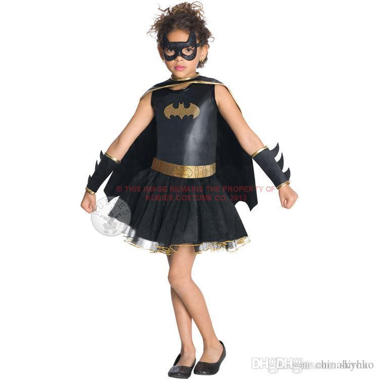 New Halloween costume Children's Dress set girl black clothes cosplay role Party Dance dress Free DHL FedEx