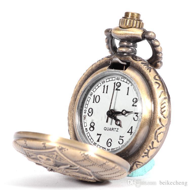 Wholesale Burton's Nightmare Before Christmas Dial Pendant Necklace Chain Quartz Pocket Watch PW071