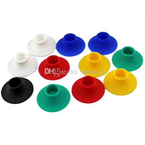 Ecig Silicone Base Holder Ego Vape Battery Display Stand Atomizer Colorful Sucker For Holding E Cigarette Clearomizers Evod Batteries