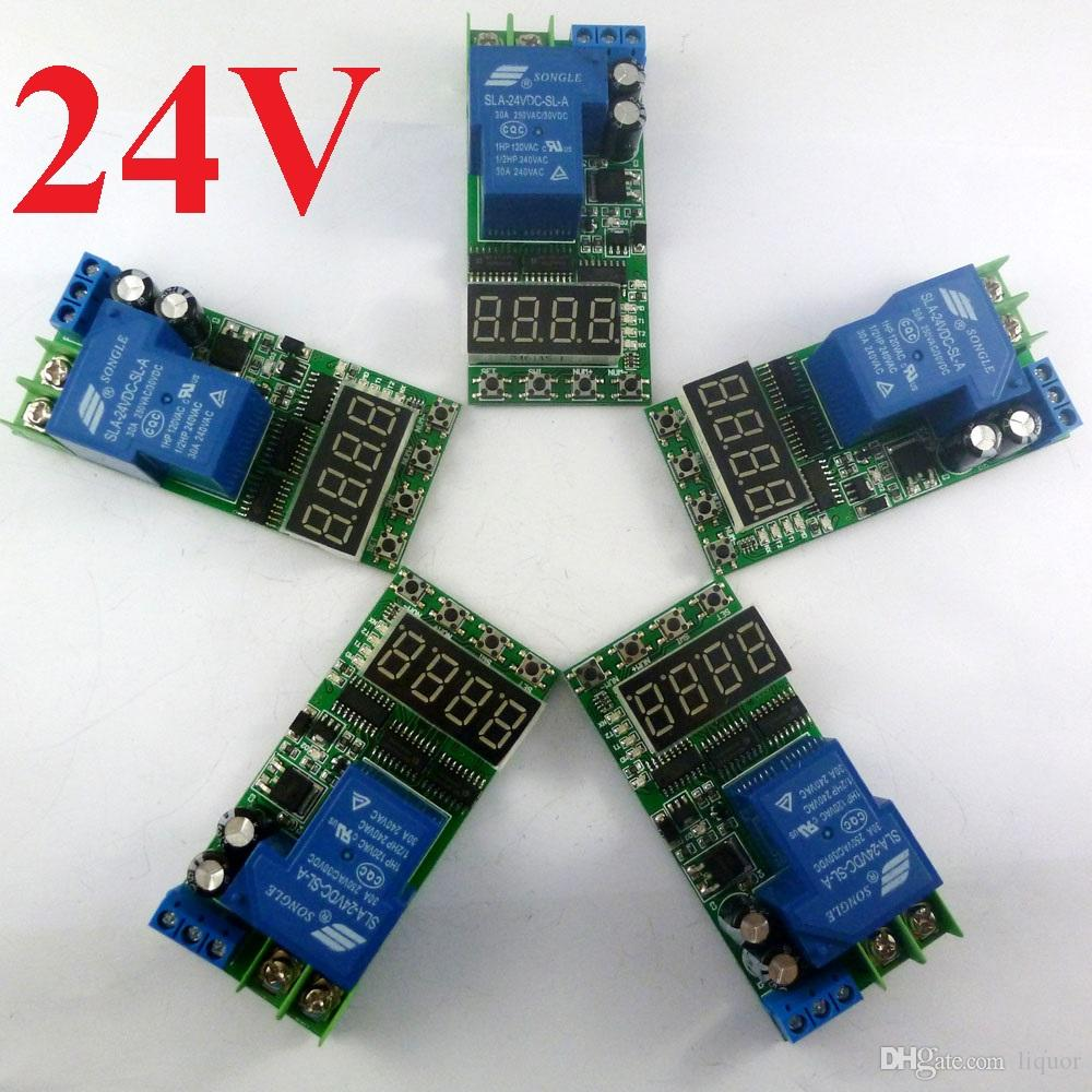 30a 24v 01s 270 Hour Super Long Time Delay Relay Led Digital Tube Wiring Diagram Timer Switch Module Dc24v 1ch Online With 3426 Piece On Liquors