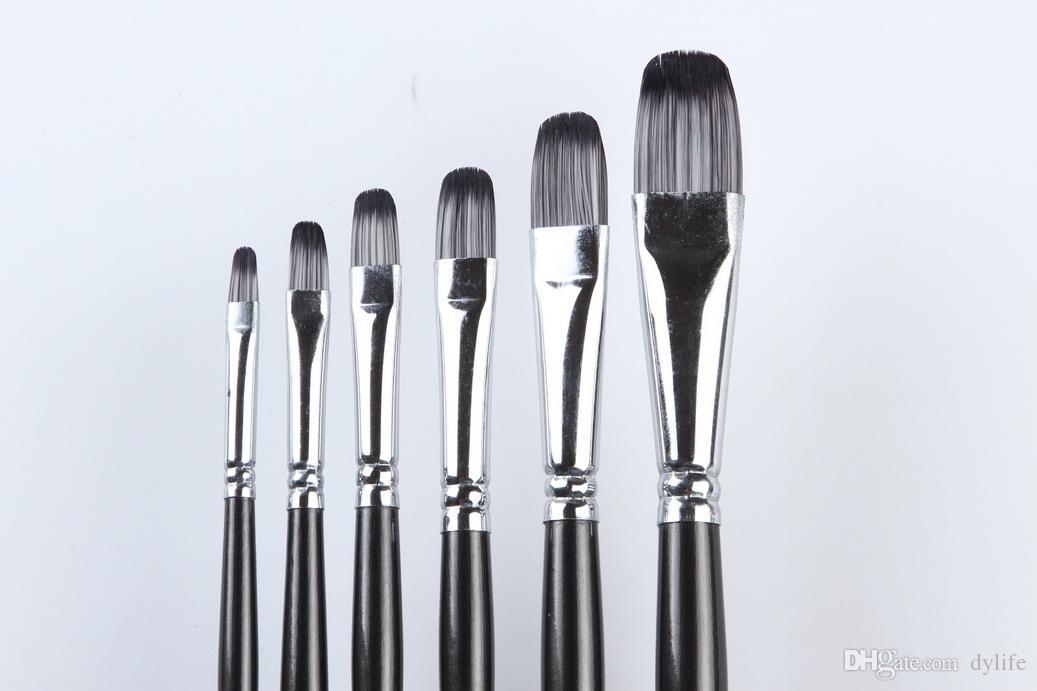 2019 218 Oil Painting Brushes Set Oil Artist Paint Brush Set Synthetic Paintbrushes Art Bicolor Nylon Hair Acrylic Paintbrushes Set From Dylife