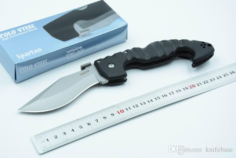 Cold Steel Spartan AUS-8 Klinge Grivory Griff Klappmesser EDC Tasche Camping Messer Messer Kostenloser Versand
