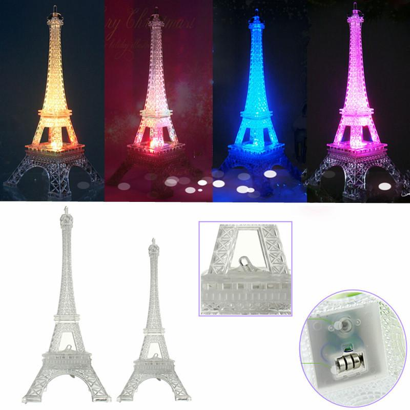 New arrival romantic eiffel tower led night light desk baby table new arrival romantic eiffel tower led night light desk baby table lamp wedding bedroom decorate child gift christmas lights lamp high quality lamp table l aloadofball Images
