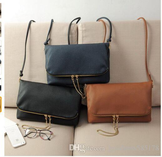 Ladies Sling Fold Over Handbags Bags Women Crossbody Messenger ...