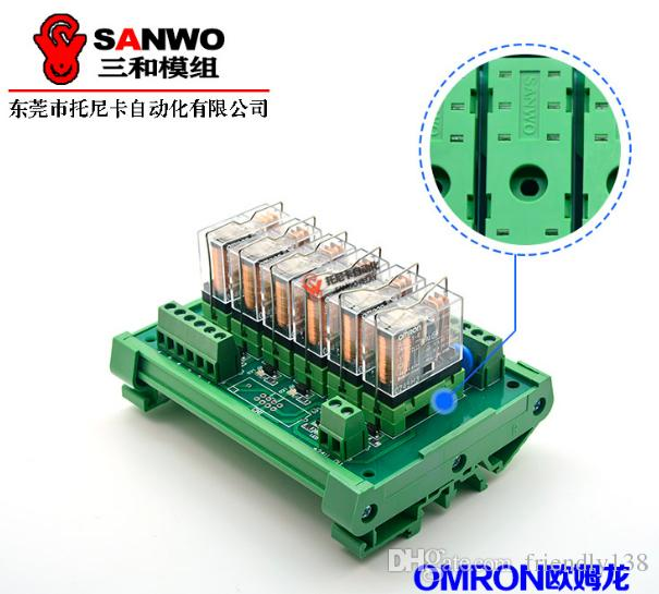 6-channel Omron Original & New Relay Module PLC Amplifier Board G2R-1-E NPN or PNP,12VDC or 24VDC