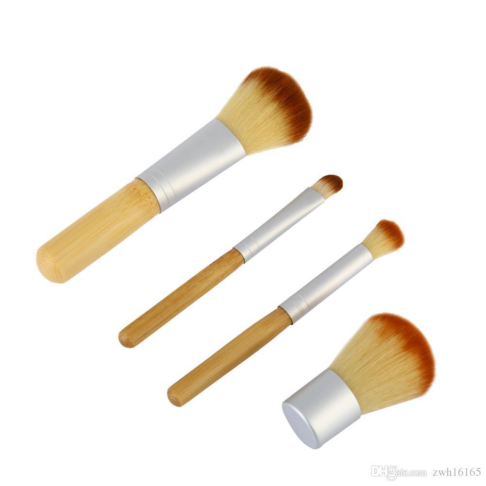Профессия макияж кисти 4 шт/комплект щетки металлические щетки макияж косметические кисти Kit наборы для макияжа инструменты Бесплатная доставка