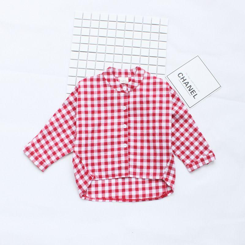 2017 New Arrival Spring Autumn Baby Girls Casual Plaid Shirt Children Long Sleeve Plaid Shirt Kids Clothing