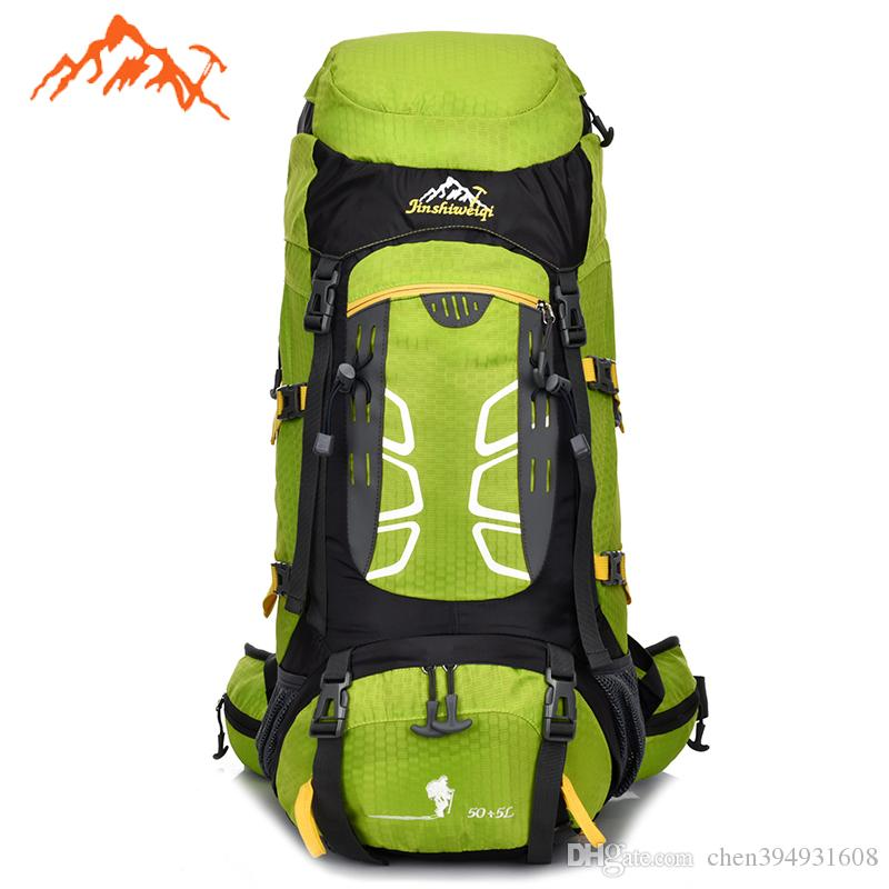 994a25da7576 2019 55L Outdoor Backpack Unisex Travel Multi Purpose Climbing Mountain Backpacks  Hiking Big Capacity Rucksacks Camping Sports Bags From Chen394931608