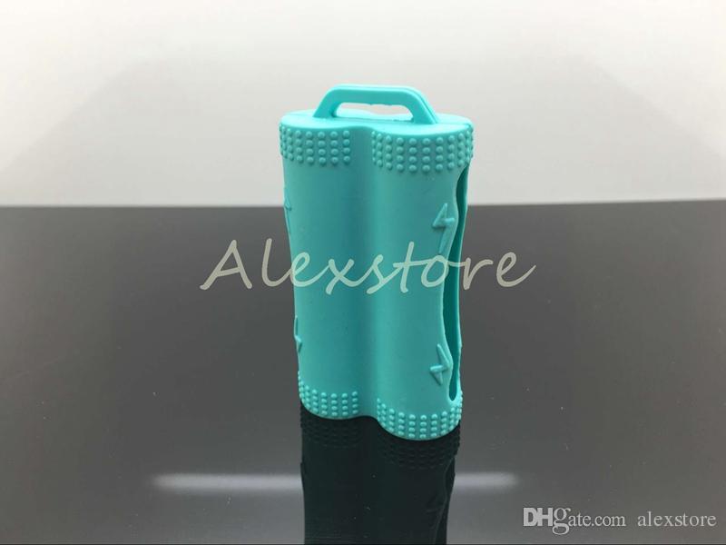 Cubierta de piel de silicona protectora Proteger la protección de la seguridad Cajas de goma de colores para la batería Sony vtc3 vtc4 vtc5 LG doble doble 18650 baterías