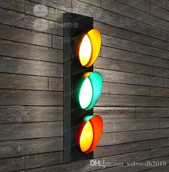 Lampade da parete a LED a segnale stradale Lampade da parete in stile country americano Sconce la camera dei bambini Illuminazione interna soggiorno LLFA