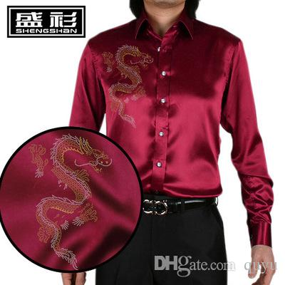 purple silk shirt mens