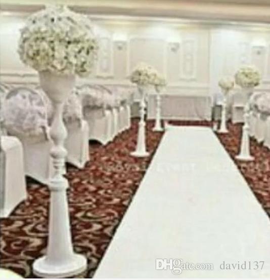 Flower Aisle Wedding: Wholesale White Iron Aisle Stands Weddings/Pillars