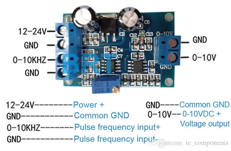 Frequency to 0-5V 0-10V Signal Converter F/V Converter Module Frequency to Voltage Linear Conversion with Anti-interference Capacity