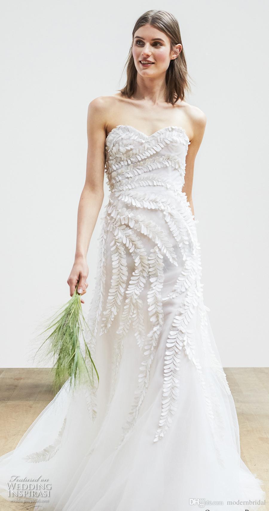 Elegant Romantic A Line Wedding Dresses 2017 Oscar De La Renta