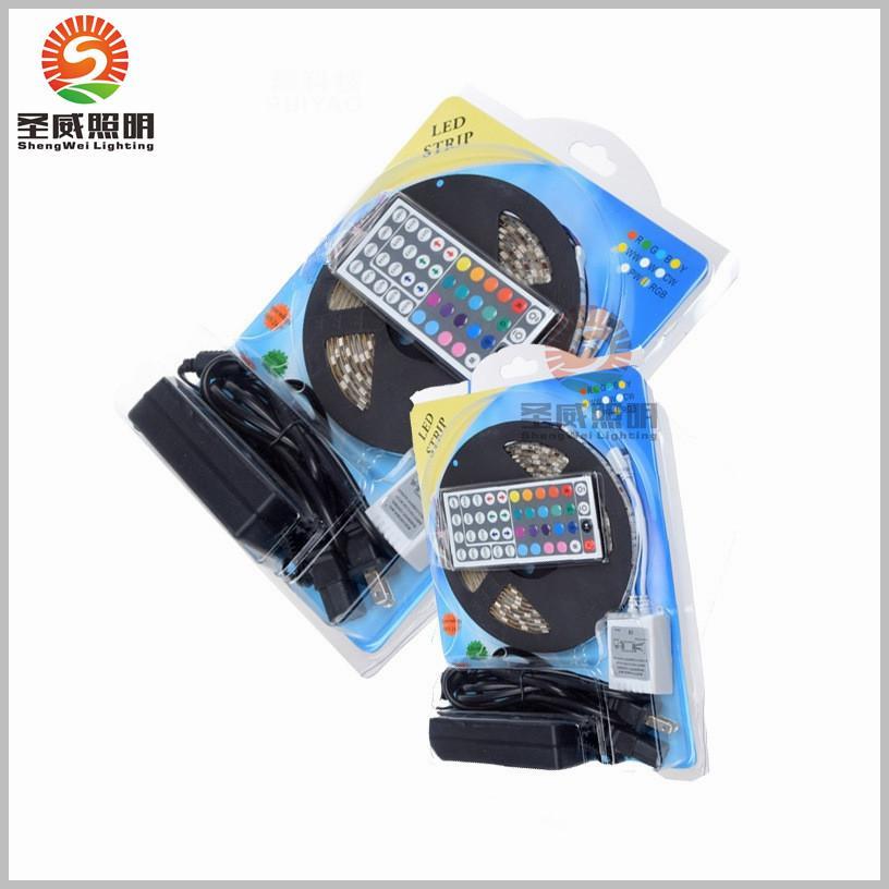5050 RGB LED Strips Light SMD 300 LED 60LED M Flexible LED light ribbon Waterproof IP65 with 44keys Controller 12V5A power