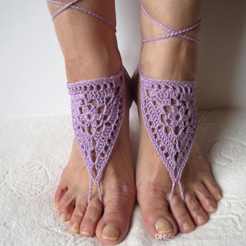 f20faa348bd3 Crochet Barefoot Sandals