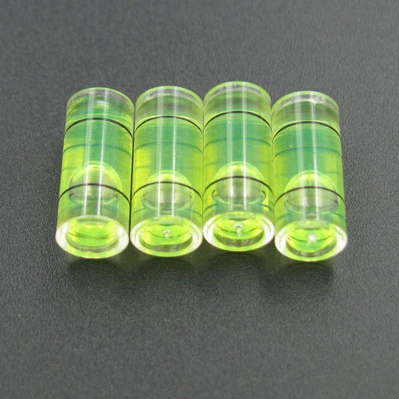 Haccury 25 قطعة / الكثير 7 * 16 ملم أجزاء أنبوب فقاعة مستوى الروح المستوى البلاستيك