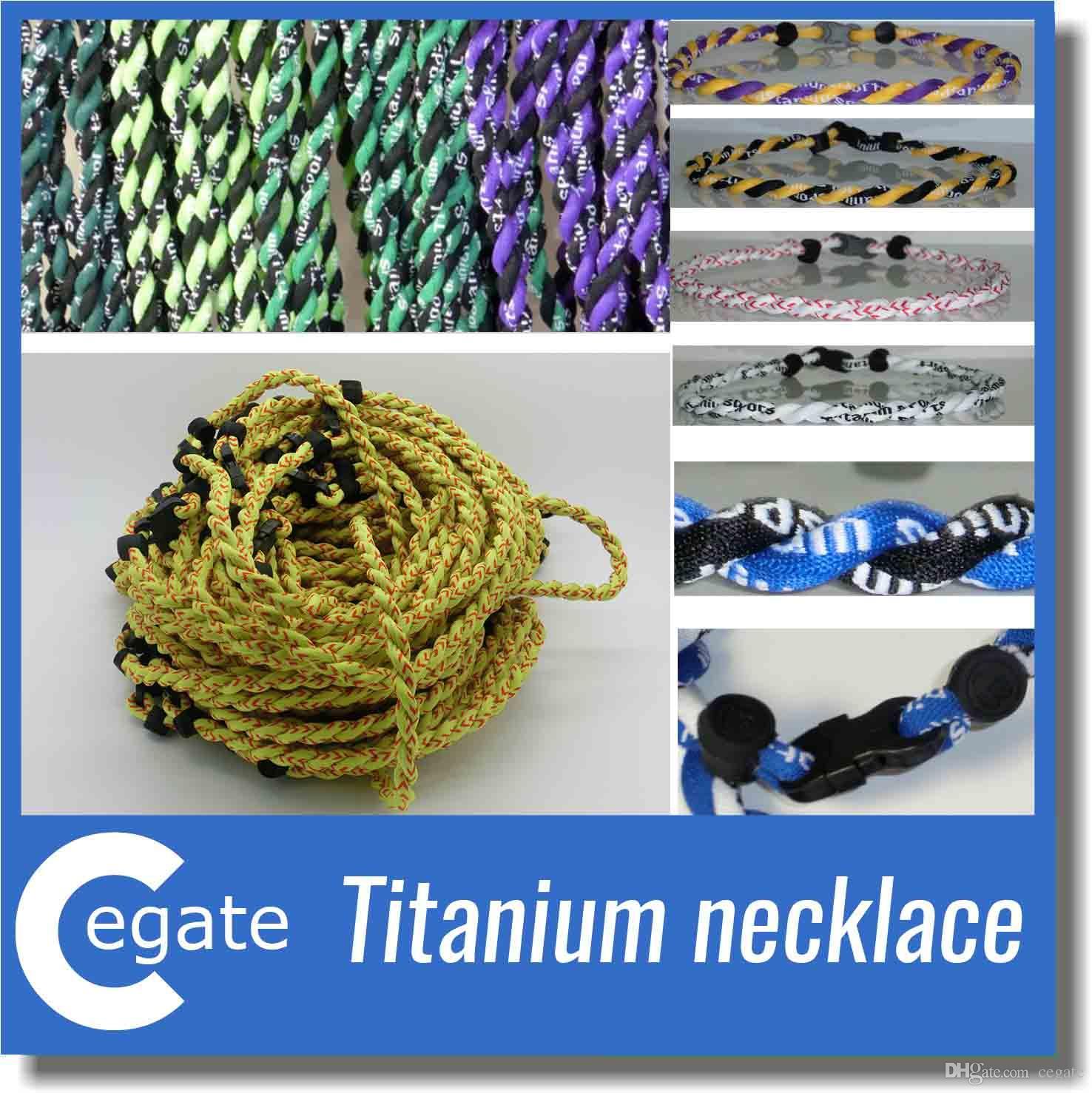 New titanium braided 3 ropes tornado necklaces for SPORTS football baseball