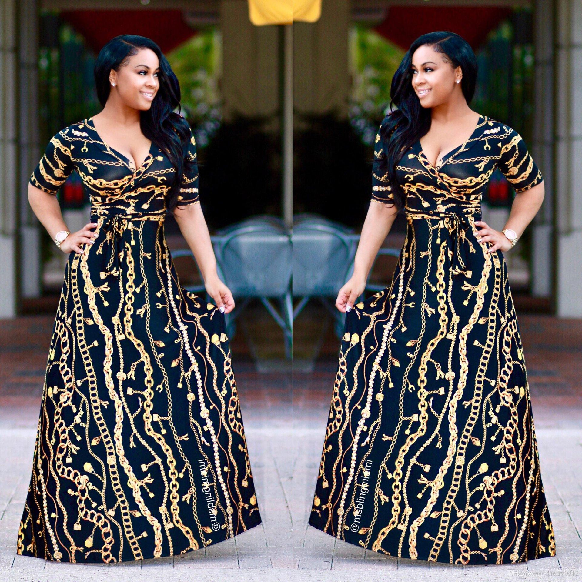 2017 Plus Size African Fashion Designed Traditional Maxi Dress ...