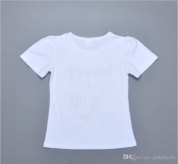 2016 neue Mode Mädchen Sommer Kleidung Sets Nie Aufwachsen Kinder Kurzarm T-shirt + Hosen 2 stücke Set Nette Mädchen Casual Anzüge Kinder Outfits