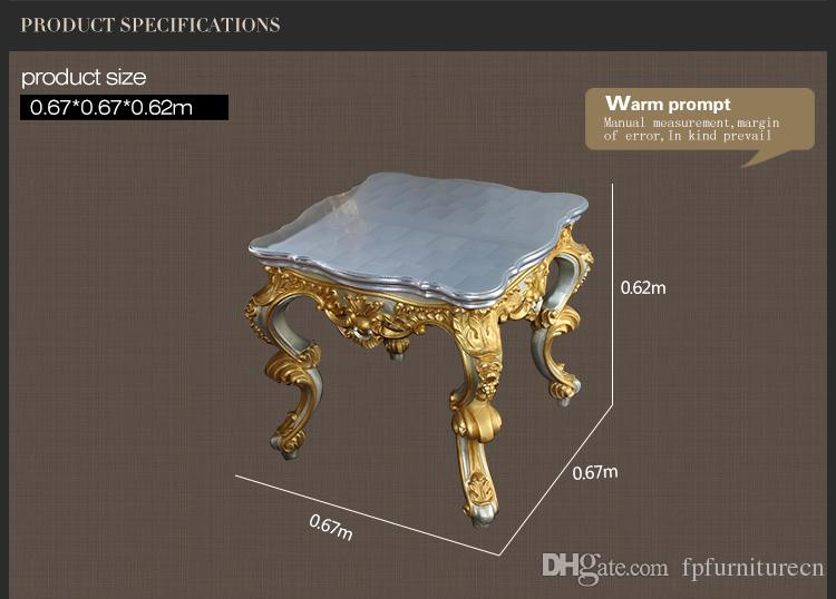 Antique baroque living room furniture-French classic coffee table with gold and silver leaf gilding - Italian classic coffee table