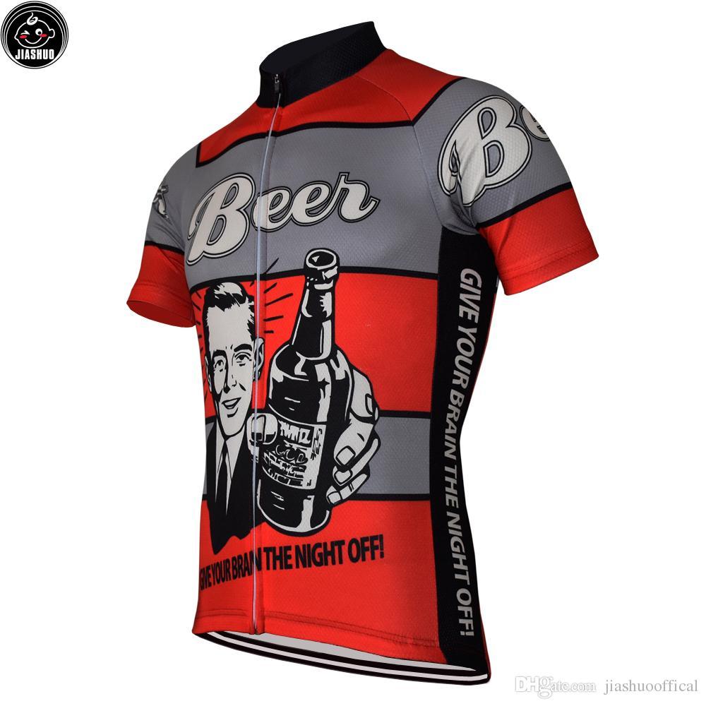 Classical Man Beer New MTB Road Racing Team Bike Pro Jazda na rowerze Jersey / Koszulki Topy Odzież Oddychanie Air Jiashuo
