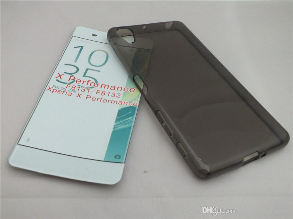 Transparente CLEAR JELLY TPU Gel, funda de silicona suave, protector de piel para Sony Xperia X Performance