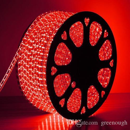 Cor Única de Alta Tensão AC110V AC220V Tira de Luz Led Flexível IP65 À Prova D 'Água SMD3528 60LEDS Luz de Tira 4.8 W / M 100 M / Rolo