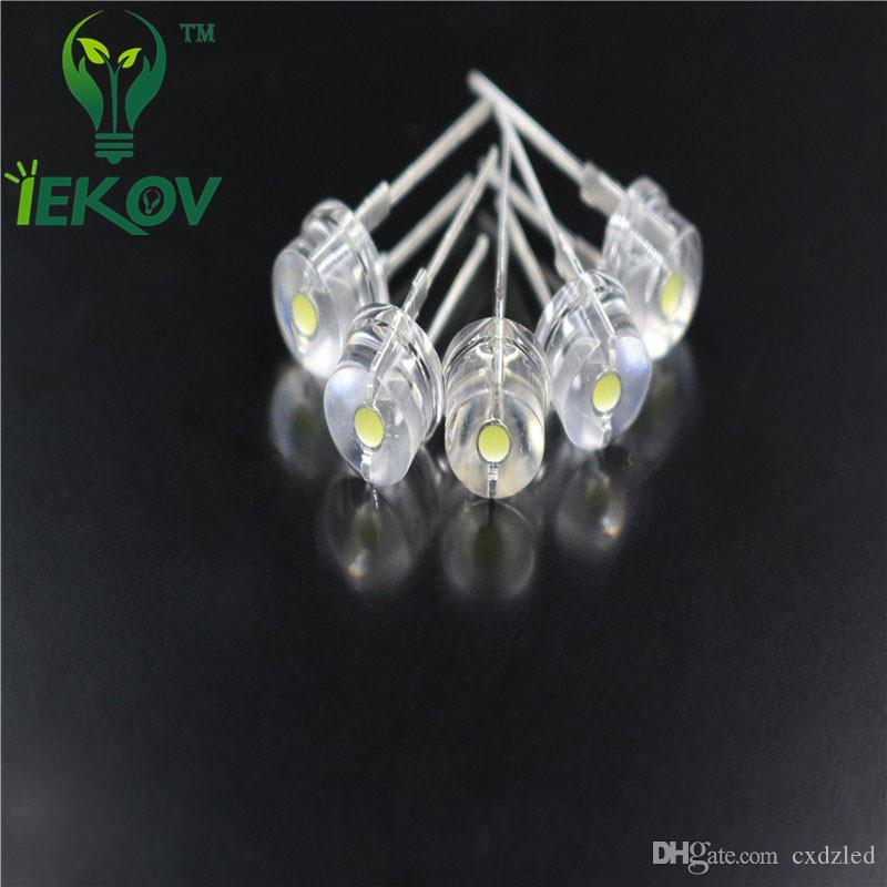 High Quality 8mm 0.5W Straw Hat Blue High Power LED Light F8MM Ultra Bright Led Electronic Components light Emitting Diodes