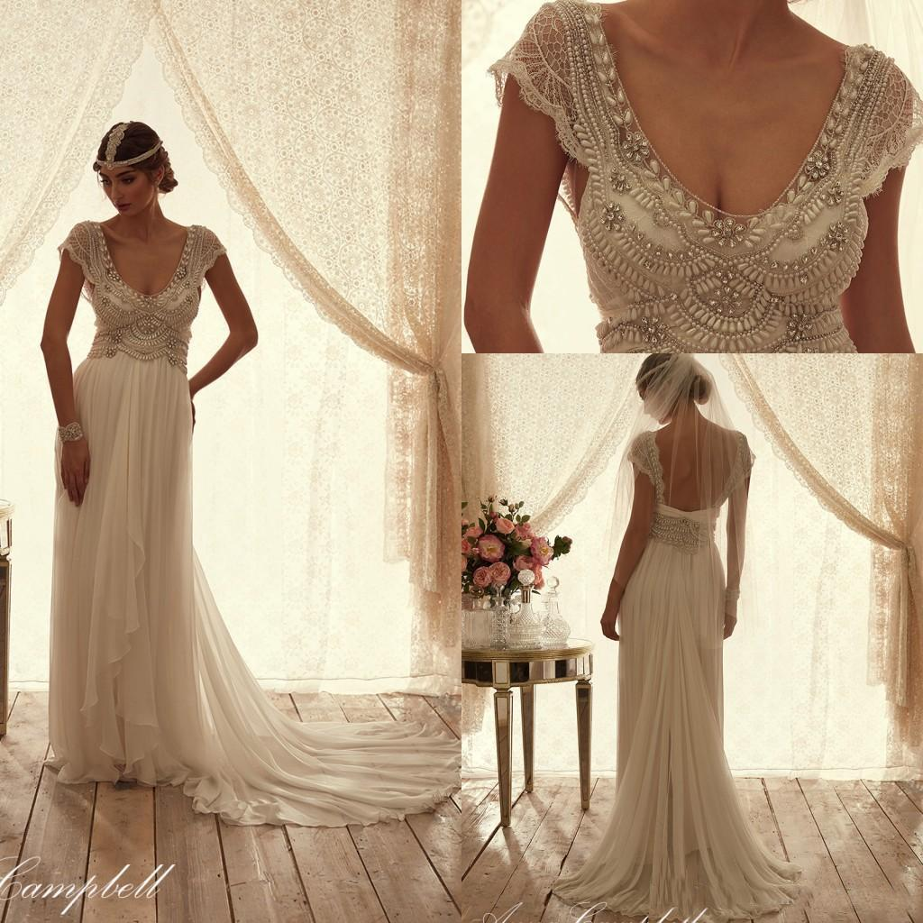 Anna Campbell Wedding Gowns: Anna Campbell 2016 Spring Wedding Dresses Short Sleeves