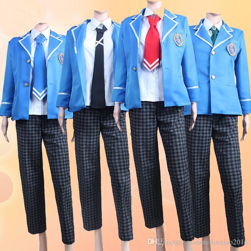 NUEVO Anime japonés COS conjunto estrellas Hokuto Hidaka Mao Isara Yumenosaki uniforme escolar traje de Cosplay Halloween Chrismas