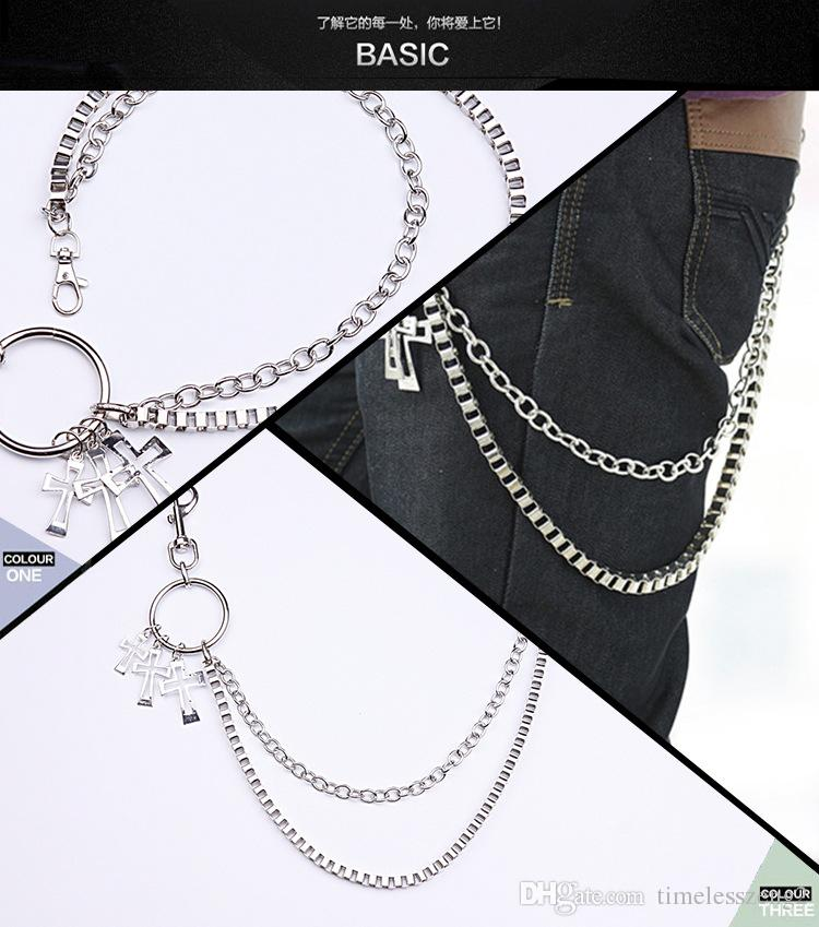 New pants chain male waist chain Punk style trousers chain link Rock hip-hop jeans waist chain belly chain