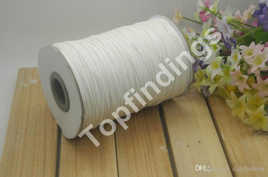Freie shiipping vollständige Farben 1roll 175meters 1mm Qualität Korea aus gewachster Baumwolle Cord Baumwolle mit Perlen verziert Schnur-Schnur
