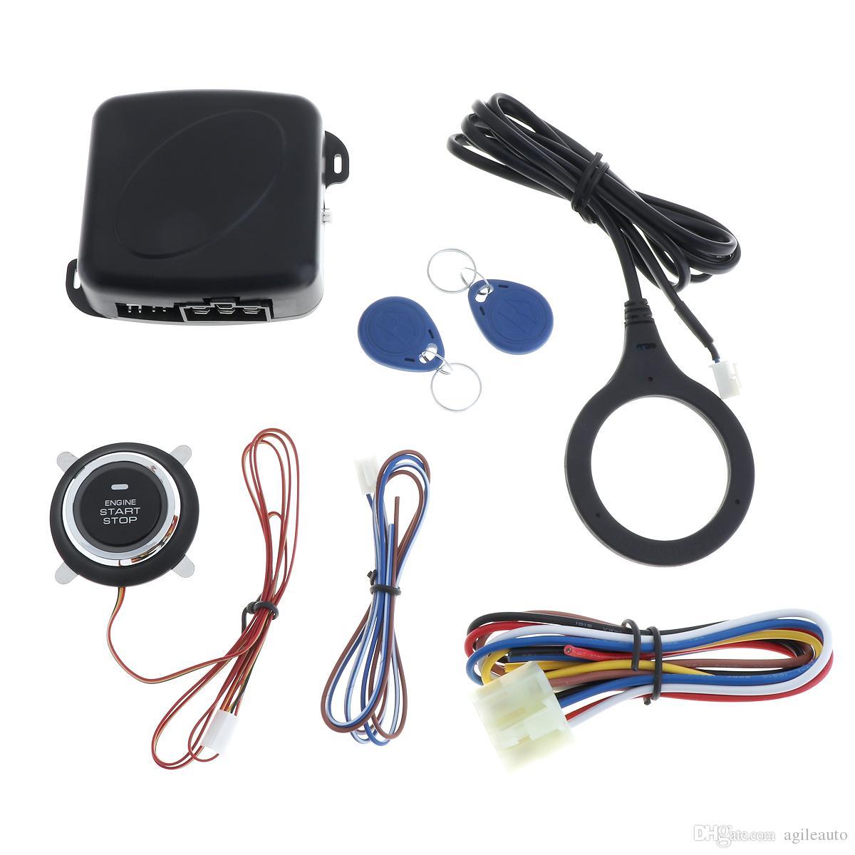 Универсальный 12V авто RFID автосигнализации и защитной блокировки противоугонной системы запуска толчок CAL_10G
