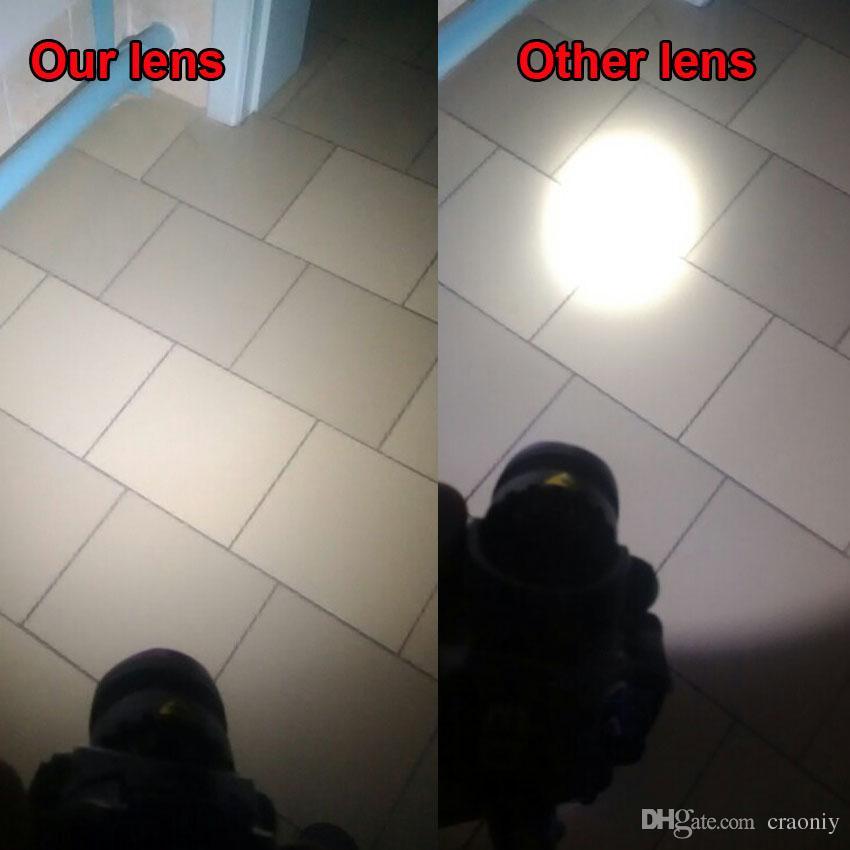 High power LED lens diameter 38mm Bead surface Plastic Plano Convex lens led reflector lens