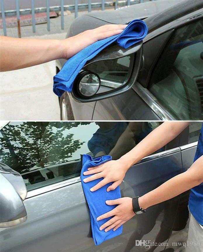 푸른 부드러운 흡수성 세척 헝겊 자동차 수건 마이크로 포이버 세차 천 70cm * 30cm