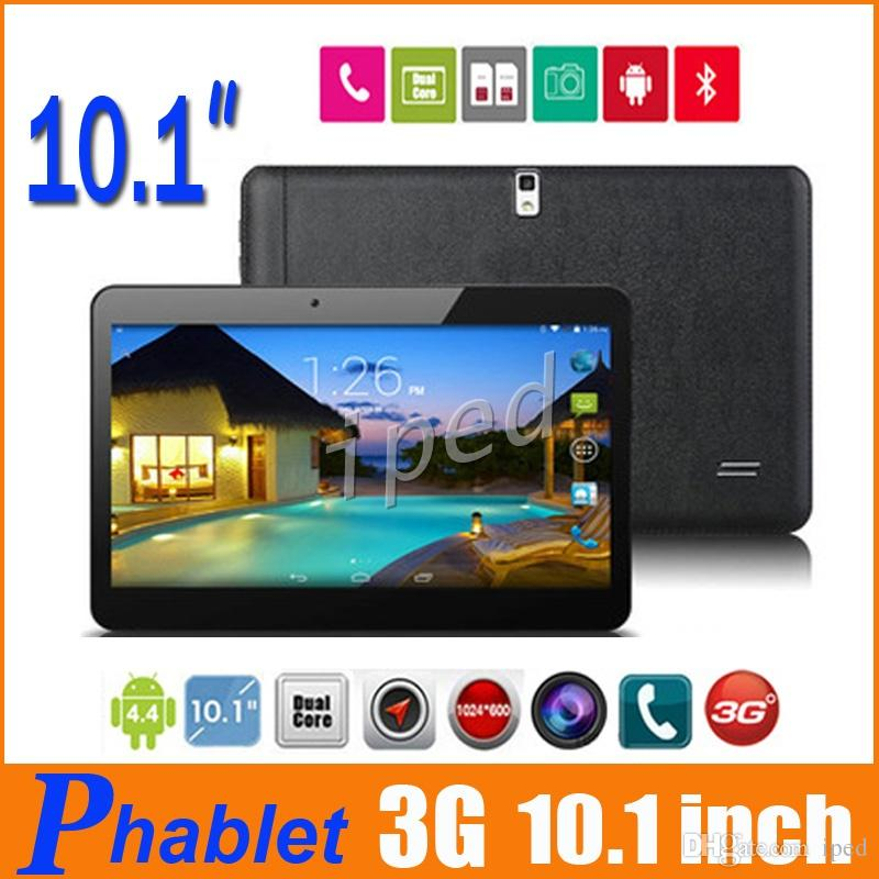 "10 inch 3G Phablet Phone Call Tablet PC 1G 8GB show fake 32GB Dual SIM Android 4.4 Dual Camera 10.1"" 1024*600 MTK6572 Bluetooth Unlocked 5"