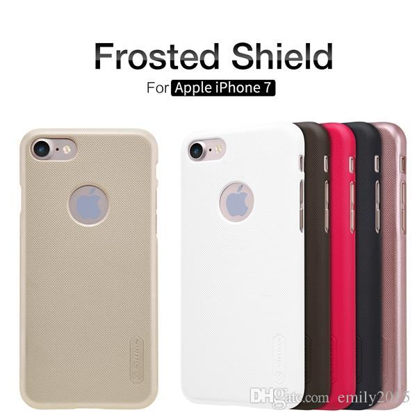 vendita all'ingrosso Custodia opaca Apple iPhone 7 NILLKIN Scudo super smerigliato Apple iPhone 7 con film gratuito