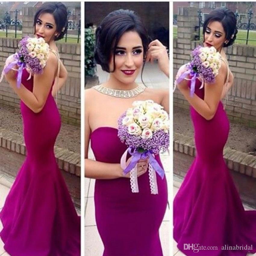 A buon mercato Sexy Mermaid Prom Dresses 2016 Sweep treno scollo a cuore formale abiti da sera partito Satin Ruffle Women Robe De Soiree
