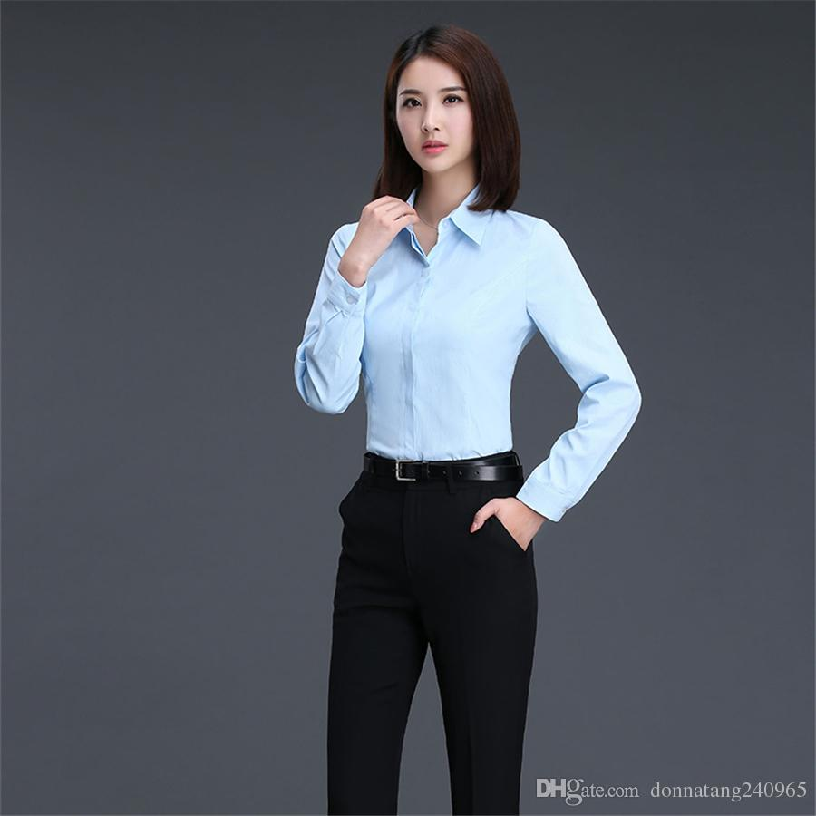 5ca10d1144c5 2019 Women Shirts Blouses Elegant Chemise Femme Shirts Lady 2017 Autumn New  Fashion White Blouse Shirts Women Long Sleeve Tops From Donnatang240965, ...