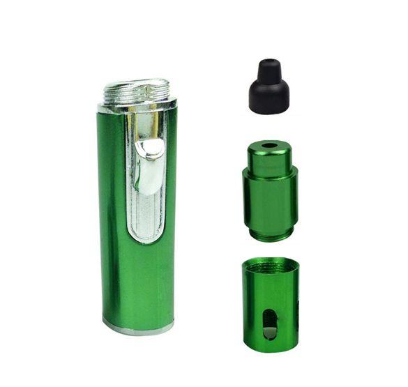 Click N Vape se faufilent dans une pipe en métal fumant Vaporisateur portable à base de plantes pour le tabac sec aux herbes avec briquet anti-vent intégré