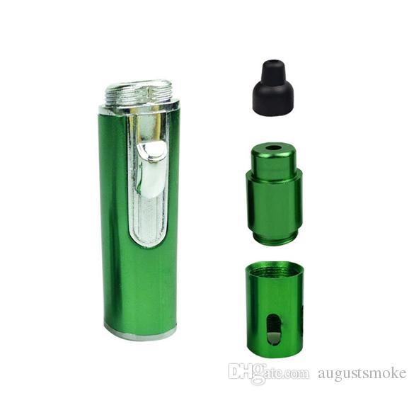 Haga clic en N Vape echar un vaporizador de fumar tubos de metal a base de plantas portátil vaporizador para el tabaco hierba seca con una función de prueba del viento antorcha encendedor