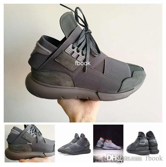 Cheap 2016 New Y-3 Qasa High Vista Grey Y3 Shoes For Men & Women,  Breathable Casual Shoes Y3 Outdoor Trainers Size Eur 36-45 With Box