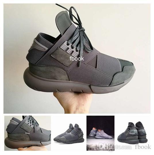 7d91c8e5b Compre 2016 Nuevo Y 3 Qasa High Vista Grey Y3 Zapatos Para Hombres ...