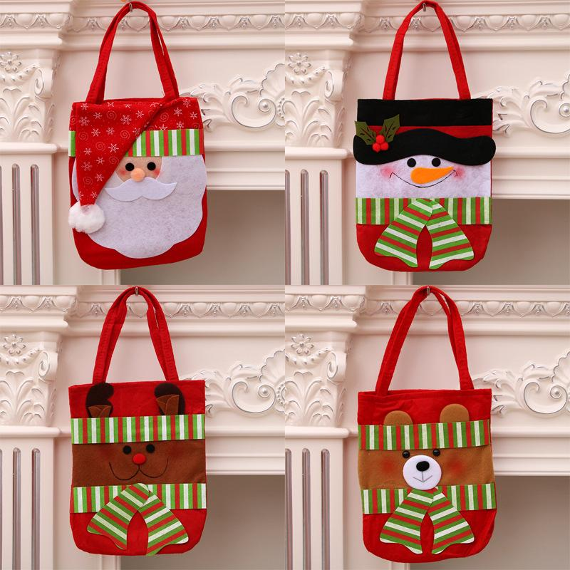 New Christmas Elderly Gift Bag Sewing Cotton Cloth Christmas Candy ...
