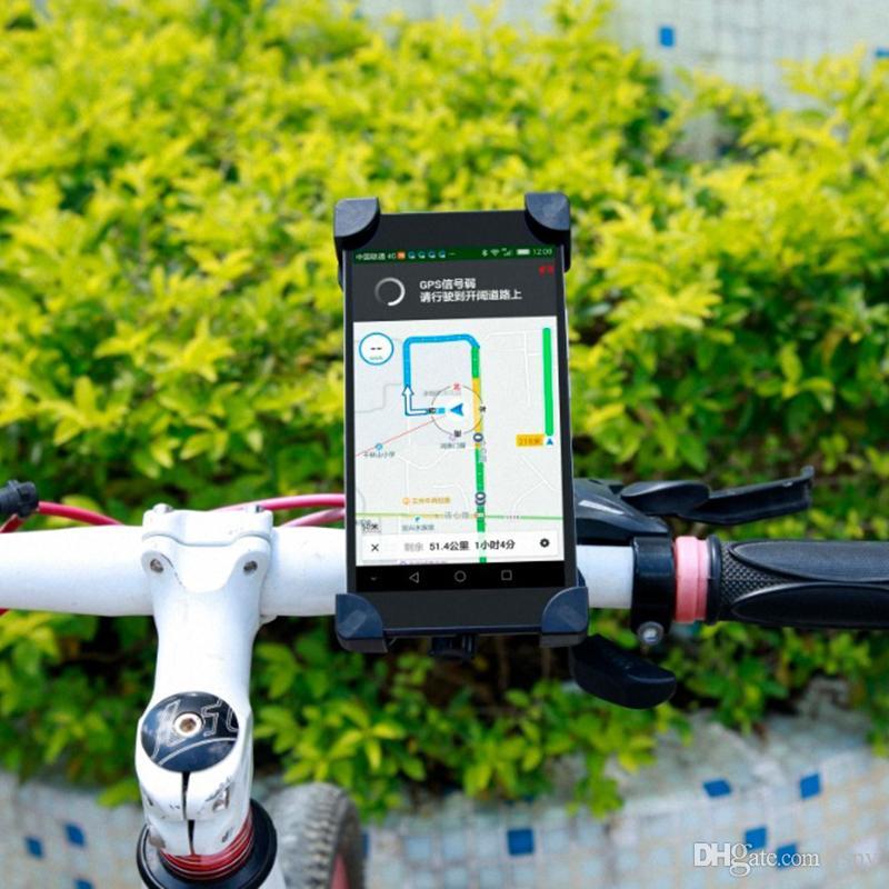 Evrensel 360 Dönen Bisiklet Bisiklet Telefon Tutucu Gidon Klip Perakende Paketi Ile Akıllı Cep Telefonu Için Montaj Braketi Standı