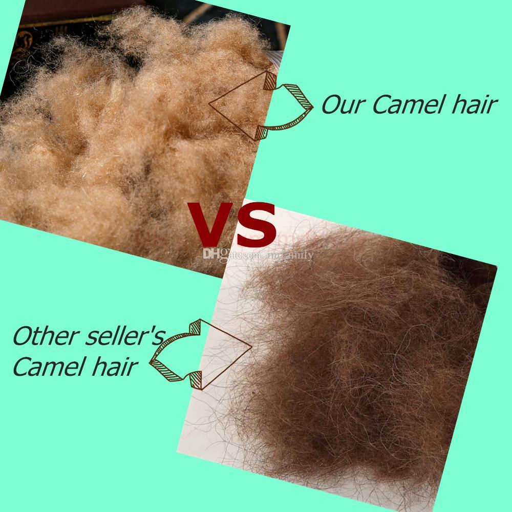 Rainha do rei gêmeo 100% natural quatro temporada de algodão camelo de cabelo / lã consolador / colcha / cobertor / cama é personalizado