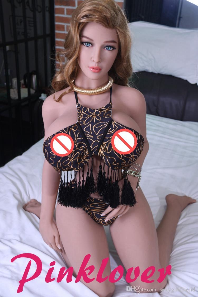 153cm Abbronzatura piena della bambola del sesso del silicone delle tette del seno di dimensione reale a grandezza naturale di colore di abbronzatura il trasporto maschio del masturbatore di goccia