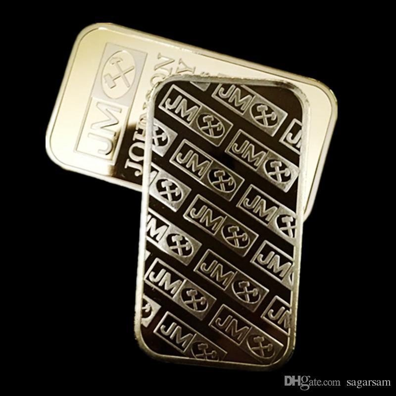 10 stücke Brandneue JM Johnson matthey 1 unze Pure 24 Karat echtes Gold versilbert Bullion Bar